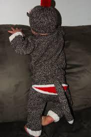 Sock Monkey Costume Sock Monkey With A Monkey Model Knittybutton