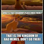 Lion King Shadowy Place Meme Generator - lion king shadows stack blank template imgflip