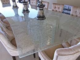 Crackle Glass Dining Room Tables Dining Table Design Ideas - Glass dining room tables