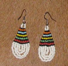 african zulu beaded earrings