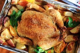 roasted whole chicken meyer lemon garlic roast chicken carnaldish