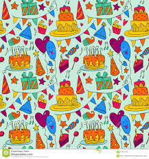 Wooden Table Background Vector Happy Birthday Background With Cakes On Wooden Table Stock Vector