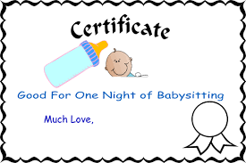 free printable babysitting coupons cliparts co
