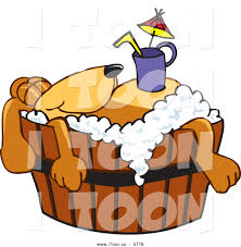 royalty free cartoon of a cute brown dog mascot cartoon character