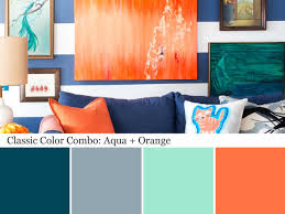 paint color combinations with orange pictures on simple paint
