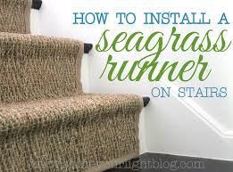 Rug Runner For Stairs How To Seagrass Stair Runner Shine Your Light