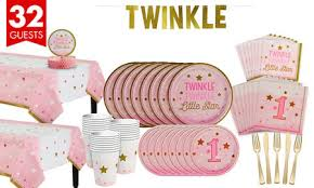 twinkle twinkle birthday pink twinkle twinkle gender neutral 1st birthday party