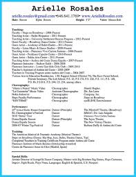special skills for resume examples dance resume examples corybantic us dancer resume skills dance resumes template dance resume for dance resume examples