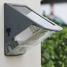 Solar Powered Wall Lights Uk - solar powered led wall light with downward light lighting wall