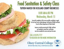 il central cuisine iecc occ occ food sanitation safety class for fssmc