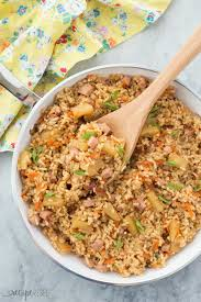 thanksgiving ham recipes with pineapple 20 minute ham and pineapple rice recipe one pot