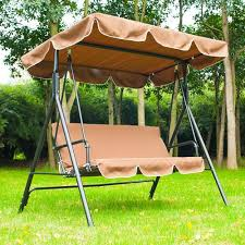 Outdoor Swing Chair Canada Outsunny Metal 3 Seater Outdoor Swing Chair Lounger With Frame And