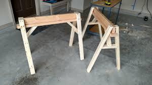 Diy Sawhorse Desk by Diy Sawhorses And Work Table Album On Imgur
