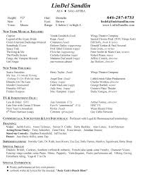 theater resume template musical theater resume template theatre exles and free