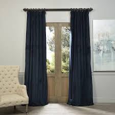 exclusive fabrics signature midnight blue velvet blackout curtain