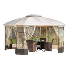 Gazebo With Awning Gazebos U0026 Pergolas Target