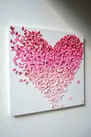 Diy Wall Decor Pinterest by Appealing Cheap Diy Wall Decor Pinterest Butterfly Heart Wall