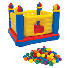 intex inflatable jr jump o lene castle bouncer walmart com