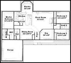 ranch floor plans with split bedrooms the country ranch ii lemel homes