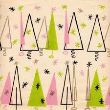 modern wrapping paper chartreuse and pink mid century modern wrapping paper christmas