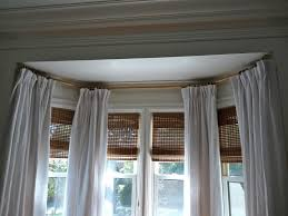 Make Your Own Curtain Rod Bay Window Dressings Ideas Curtain Rod Rods For Windows Treatment