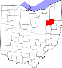 map of counties in ohio file map of ohio highlighting stark county svg wikimedia commons