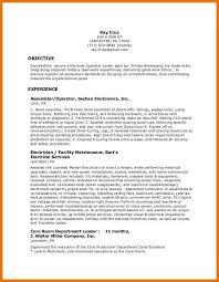 Water Treatment Plant Operator Resume Switchboard Operator Resume Eliolera Com