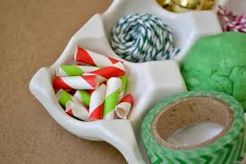 mommy testers holiday party kids table activity tray