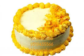 online cake delivery 500 gm pineapple cake delivery gorakhpur online cakes for