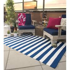 Blue Striped Area Rugs Fab Habitat Nantucket Woven Blue White Indoor Outdoor Area