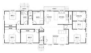 ranch home floor plans 4 bedroom simple house plans 4 bedrooms homes floor plans