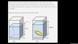 2 s ring volume word problem gold ring khan academy