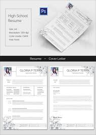 free resume cover letter samples downloads resume template 92 free word excel pdf psd format download clean high school resume cover letter template highschoolresume mockup
