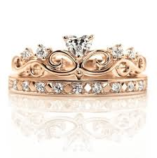 crown rings images 14k gold crown rings set princess crown ring queen ring etsy jpg