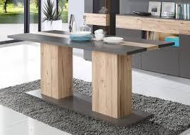 Esszimmer Eiche Grau Esstisch Esszimmertisch Küchentisch Säulentisch 180x90cm Wolfram
