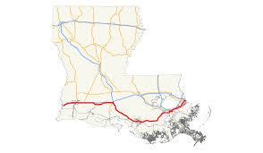 Louisiana State Map by U S Route 90 In Louisiana Wikipedia