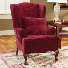 sure fit slipcovers wing chair buy sure fit chair slipcovers from bed bath beyond