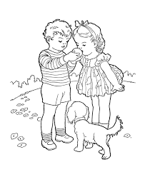 bluebonkers kids coloring pages kids sharing an orange free