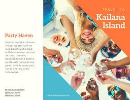 island brochure template customize 89 travel brochure templates canva
