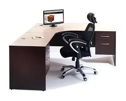 Glass Top L Shaped Computer Desk Homcom 64 Modern L Shaped Glass Top Office Workstation Computer