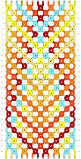 bracelet patterns with string images Normal friendship bracelet pattern 6571 png