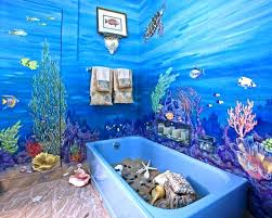 Ocean Bathroom Decorating Ideas 21 Best Beach Scene On Walls Images On Pinterest Bathroom Ideas