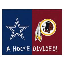 Cowboy Area Rugs Redskins Nfl House Divided Area Rug