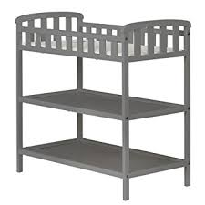 dream on me changing table white amazon com dream on me emily changing table steel grey baby