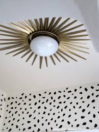 Ceiling Mounted Lights Install A Starburst Mirror Frame Around A Flush Mount Ceiling