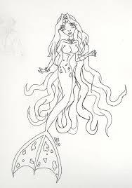colour mermaid lineart starsubeki deviantart