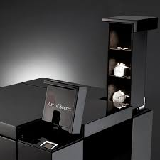 fancy biometric fingerprint secret compartment nightstand