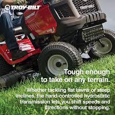shop troy bilt horse 20 hp hydrostatic 46 in riding lawn mower at