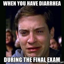 Final Exam Meme - when you have diarrhea during the final exam crying peter parker