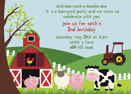 Create Invitation Cards Birthday Invites Wonderful Farm Themed Birthday Invitations Ideas